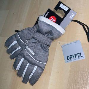ROSSIGNOL DRYPEL Waterproof Ski Gloves w/ faux fur